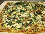"""12"""" Roasted Portabella Mushrooms and Spinach Pizza"""